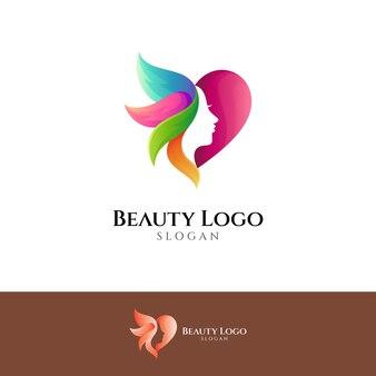 사랑의 아름다움 로고 디자인