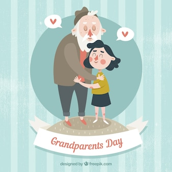 Love betwen grandfather and granddaughter