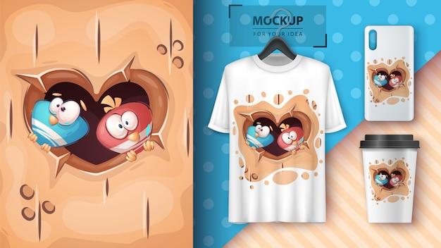 Love birdhouse - poster and merchandising.