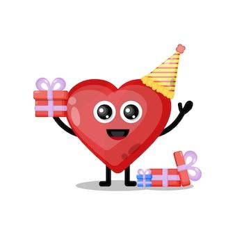 愛の誕生日かわいいキャラクターマスコット
