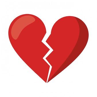 Love broken heart symbol