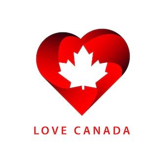 Love canada logo template