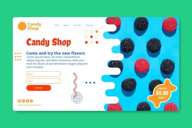 Целевая страница love candy