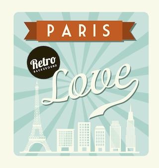 Love card over blue background vector illustration