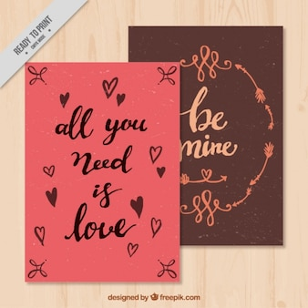 Love cards with inspiring messages