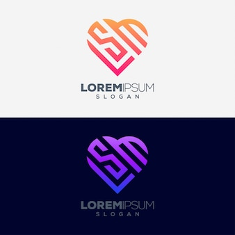 Концепция любви красочный дизайн логотипа