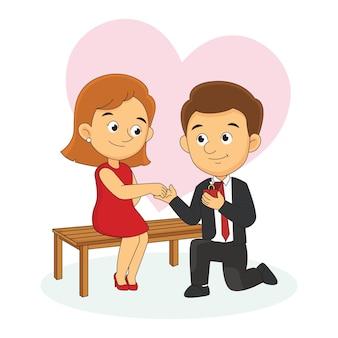 愛の告白、幸せなバレンタインデー
