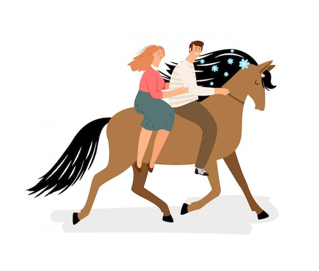 말을 타고 사랑 부부.