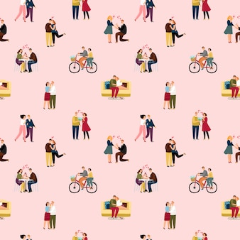 Любовь пары людей шаблон
