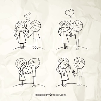 Love couples sketches