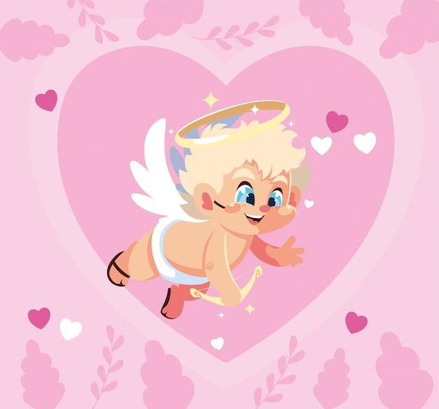 Love cupid cartoon illustration