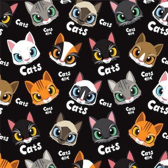 Love cute cats pattern