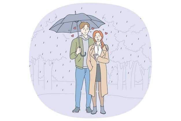 愛、交際、関係の概念のカップル。