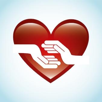 Love design over dotted background vector illustration