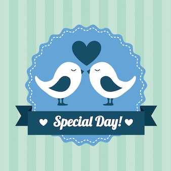 Love design over  lineal  background vector illustration