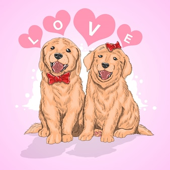 Love dog couple