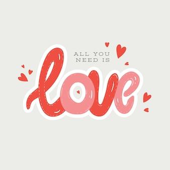 День святого валентина любовь каракули элемент
