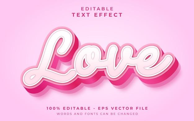 Love editable text effect Premium Vector
