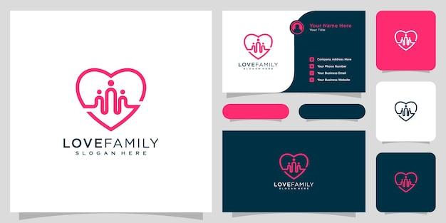 家族のロゴのベクトルのデザインラインスタイルが大好き