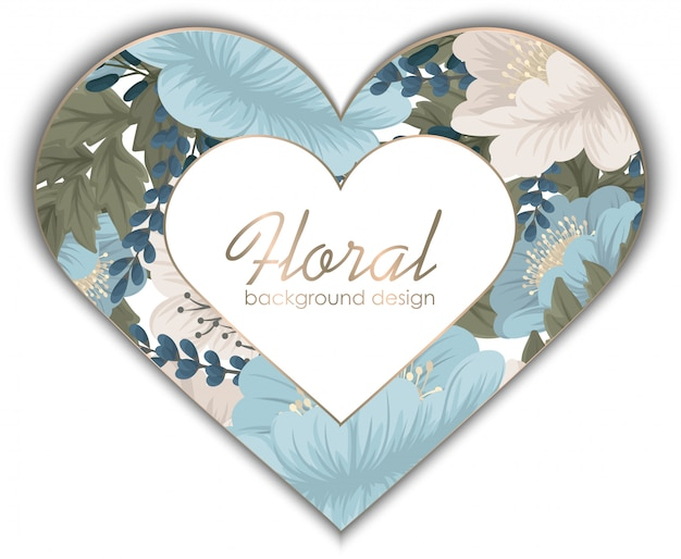 Love flower frame - valentines day