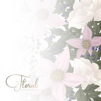 Любовная цветочная рамка - день святого валентина