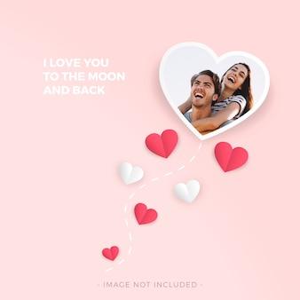 バレンタインデーのための愛のフレーム