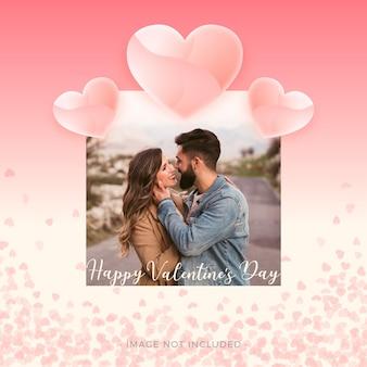 Любовная рамка на день святого валентина