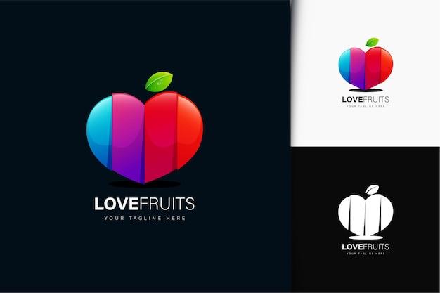 グラデーションのフルーツのロゴデザインが大好き
