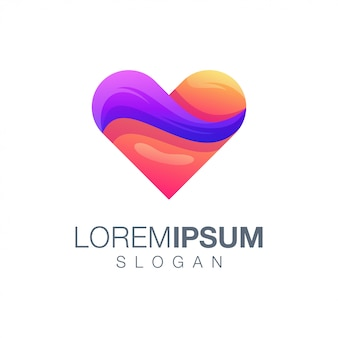 Love gradient color logo