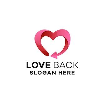 Love gradient logo template
