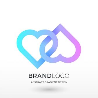 Любовь градиент логотип