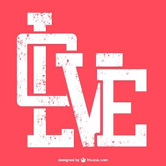 Amore grunge design tipografico