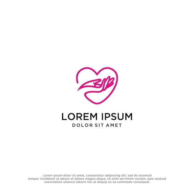 Love hands logo vector design template
