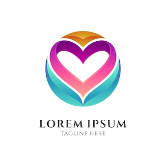 Love healthy logo template