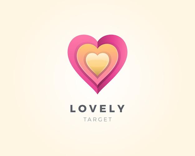 Значок эмблемы сердца любви.
