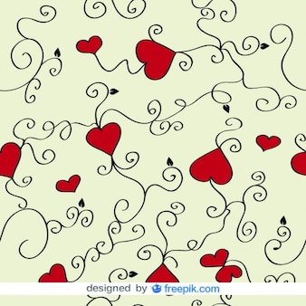 Cuori e turbinii vector background