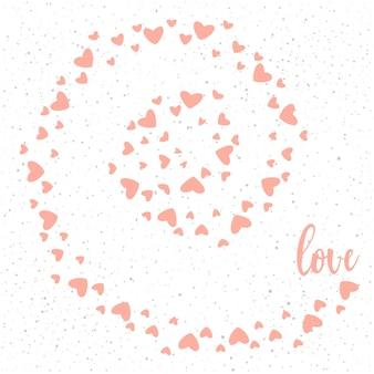 Love hearts vortex pattern for valentine day or wedding