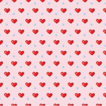 愛の心水彩シームレスパターン