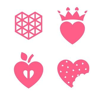 お祝いのために設計された愛のアイコンやバレンタインデーのサイン
