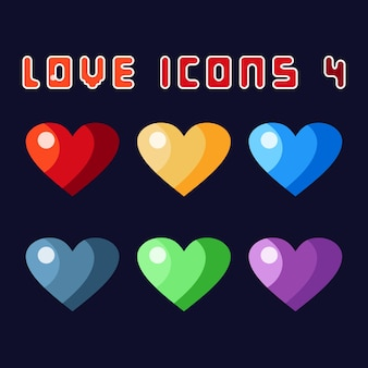 Love icons 4 game asset