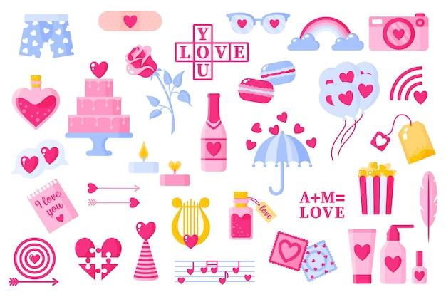 Набор иконок любви на день святого валентина