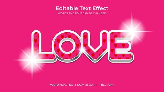 Love illustrator editable text effect template design