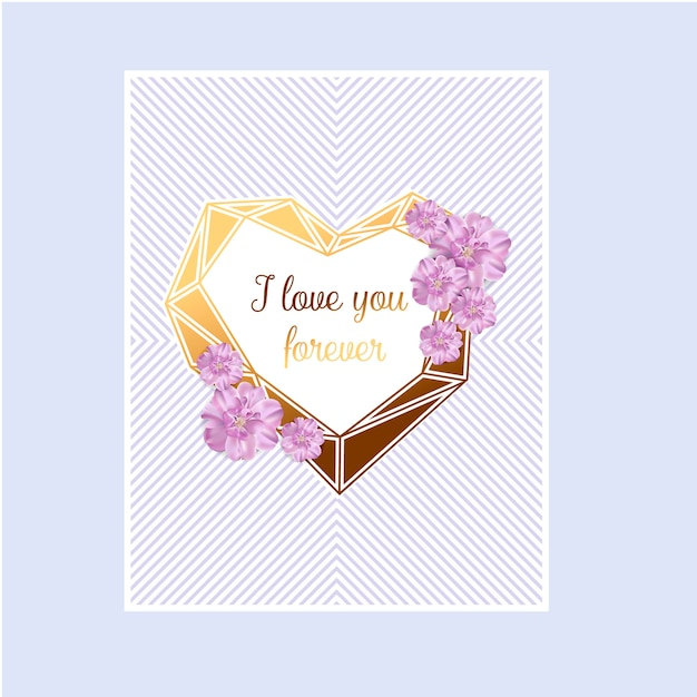 Love invitation card valentine's day abstract background