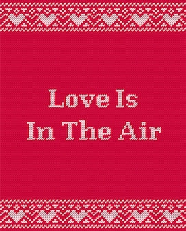 Love is in the air greeting card for valentine day
