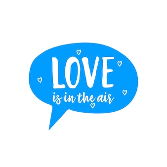 Love is in air lettering