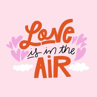 愛は空気のレタリングにあります