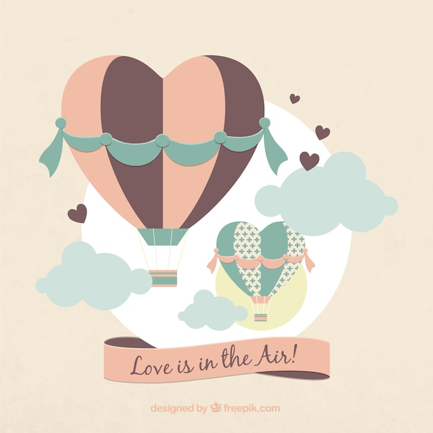 Любовь в воздухе Бесплатные векторы