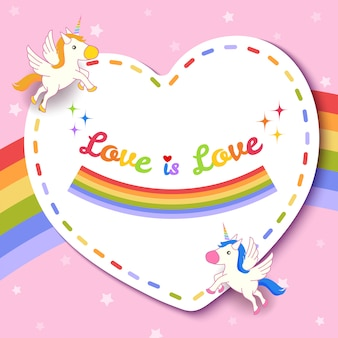 Love is love heart  pink