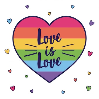Love is love and lgtbi heart