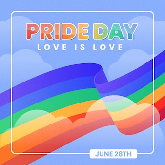 Love is love pride day flag